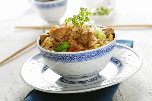 Fried rice with pork (China)