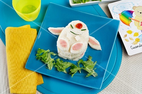 A Pikachu sandwich with ham and cheese