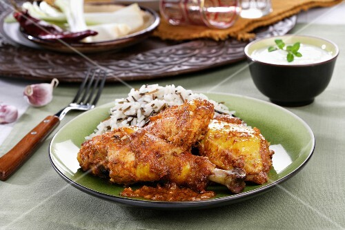 Tandoori Chicken with Rice