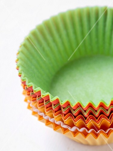 Colorful cupcake liners.