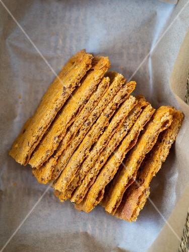 Vegan gluten-free panicum bread.