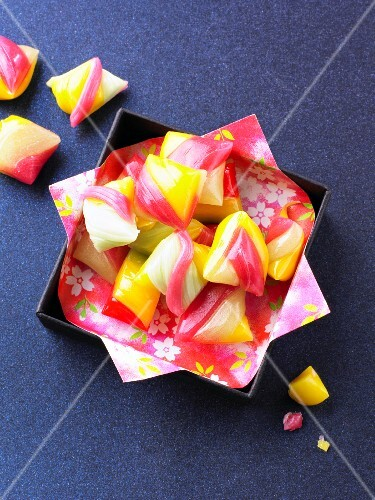 Hard candies in box