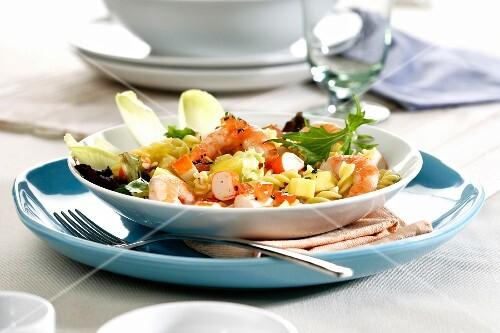 Surimi and shrimp salad