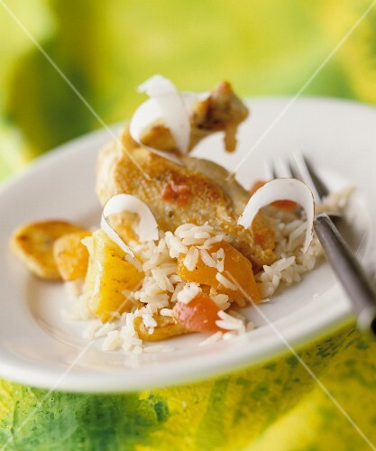Chicken breast with coconut rice