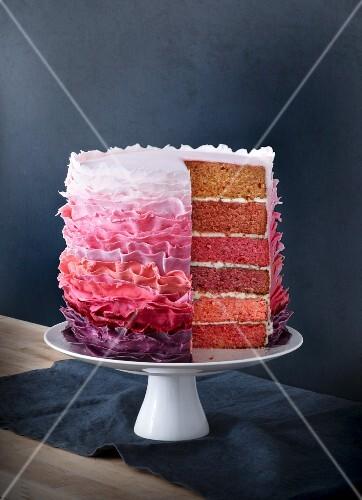 Amarena cherry layer cake