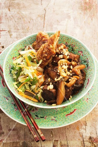 Pork curry with pickled garlic (Thailand)