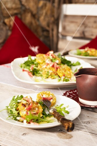 Bacon dumpling salad