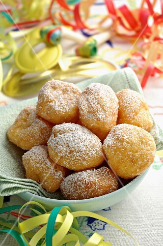 Tortelli dolci, traditional carnival sweet, Italy