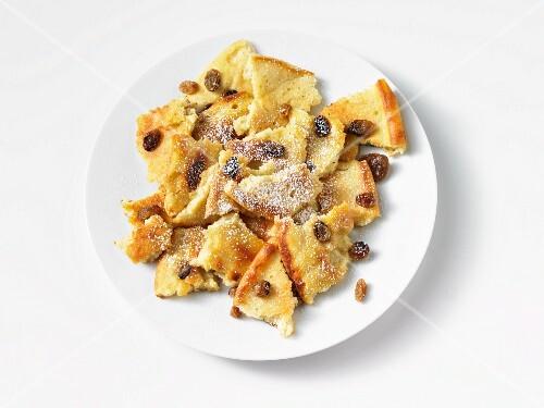 Kaiserschmarren (shredded sugared pancake from Austria)