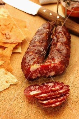 Wild boar smoked salami, Ploaghe, Sardinia, Italy