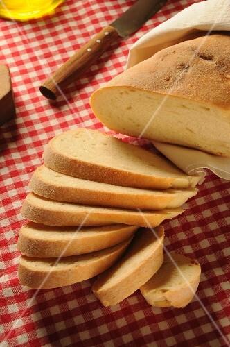 Pane toscano sciocco, traditional Tuscany bread salt-free, Tuscany, Italy, Europe