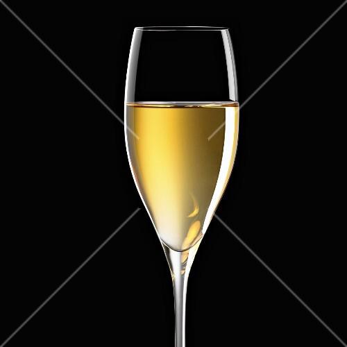 Glass of white wine, Italy, Europe