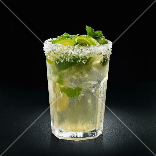 Portorican mojito cocktail