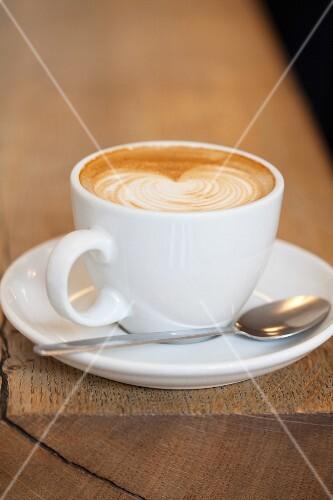 Cafe Latte in White Mug