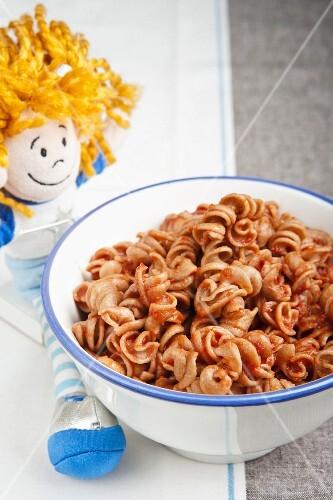 Tomato pasta for children