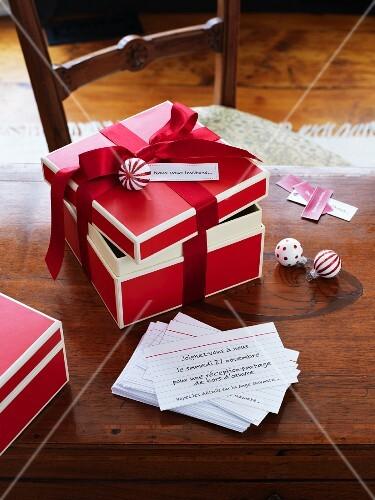 Invitation cards for a Christmas celebration