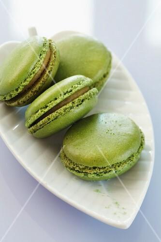 Matcha tea macaroons