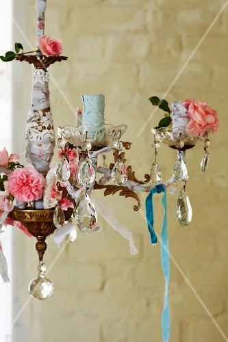 A decorated chandelier