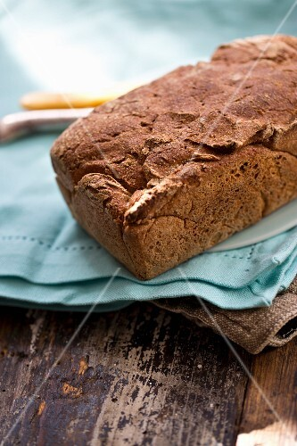 Homemade rustic brown bread