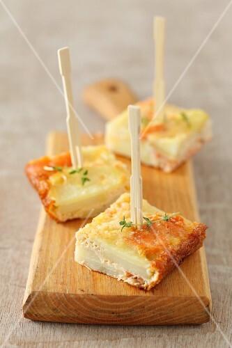 Potato and smoked salmon tortilla