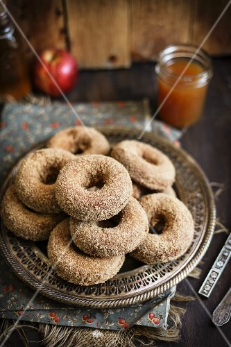 A Platter of Apple Cider Donuts