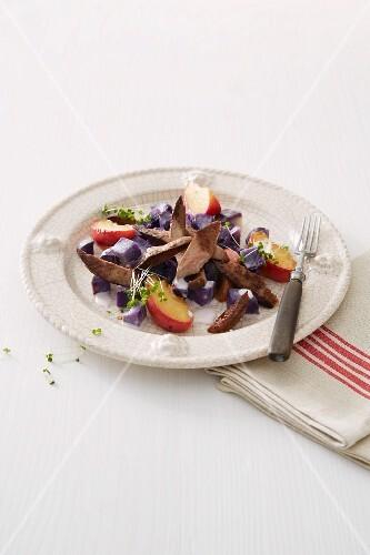 Calf's liver with potato salad