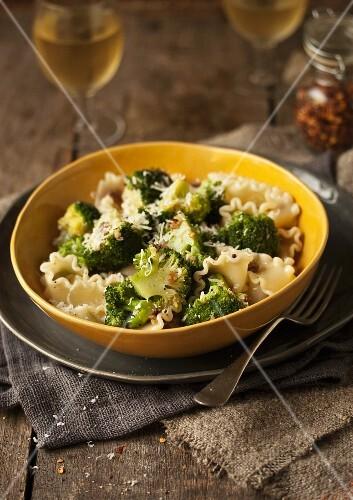 Reginette pasta with broccoli