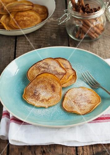 Squash pancakes with cinnamon and sugar