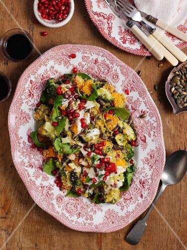 Quinoa salad with pomegranate seeds