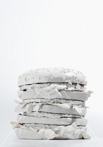 A white hamburger