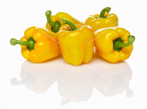 Five yellow peppers