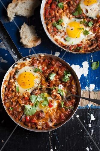 Shakshuka (egg dish with tomatoes, North Africa)