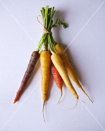 A bunch of various carrots