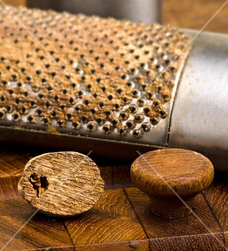 Nutmeg with grater