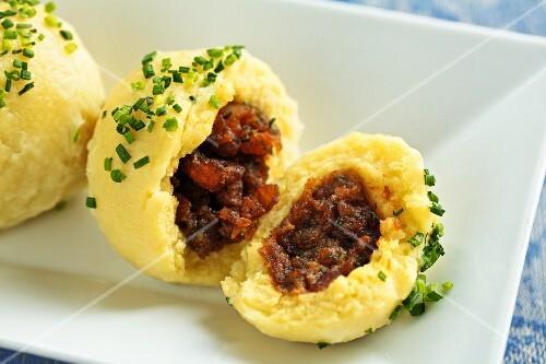 Pork dumplings from Austria
