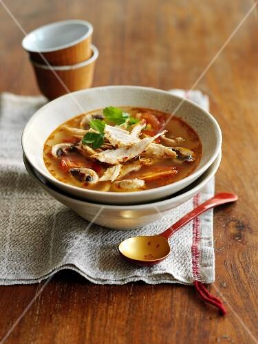 Tom Ka Gai (chicken soup, Thailand)