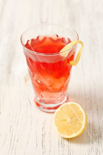 Whiskey with cherry liqueur and soda