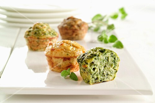 Broccoli and herb muffins