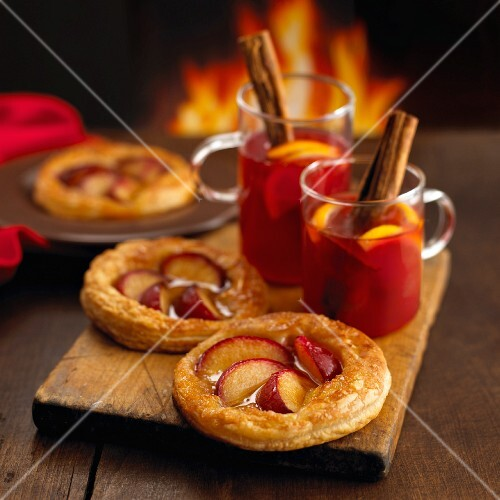 Plum tarts and mulled wine
