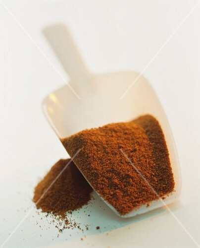 Paprika in a plastic scoop