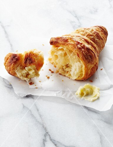Croissant Broken with Butter