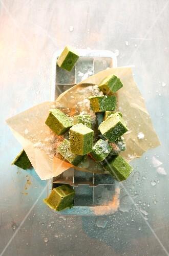 Frozen herb paste