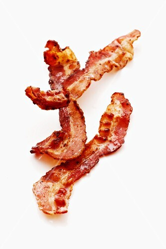 Fried bacon pieces