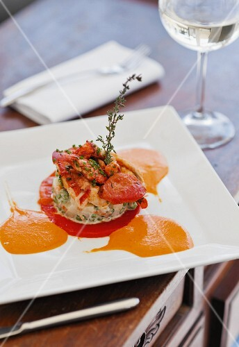 Lobster salad with thyme
