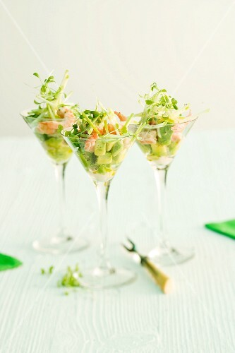 Shrimp cocktail with avocado