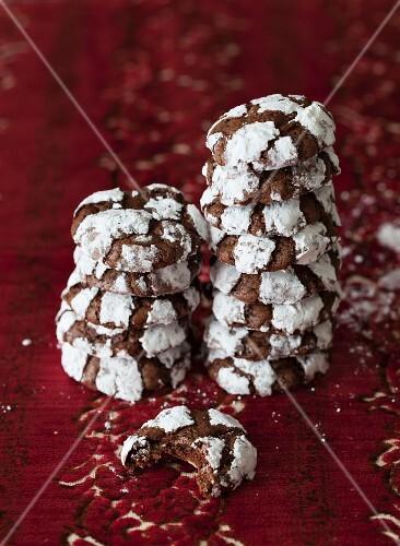 Crackle Top Chocolate Mint Cookies