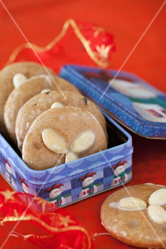 Lebkuchen - German Spice Cookies with Almonds