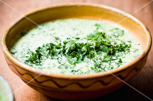 Herb and spinach soup