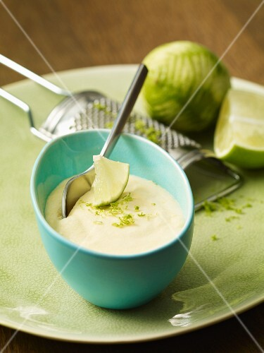Lime dessert with lime zest