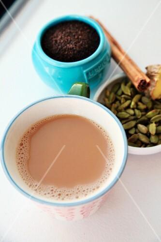 Mug of hot chai tea